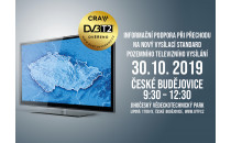 Informační roadshow k tématu DVB-T2 - podpora při přechodu na novou generaci digitálního vysílání
