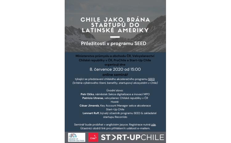 Online seminář CHILE JAKO BRÁNA STARTUPŮ DO LATINSKÉ AMERIKY !