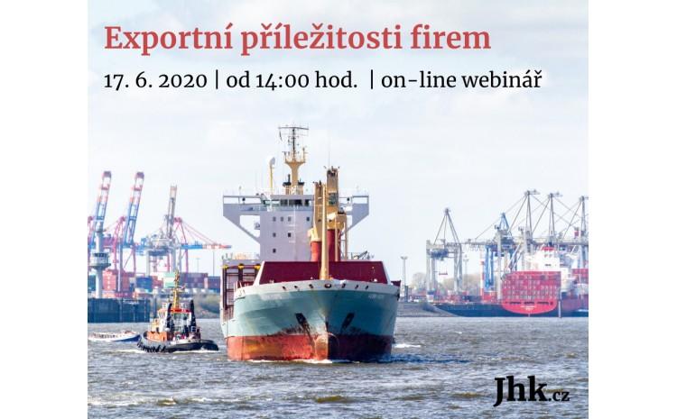 Pozvánka na webinář Exportní novinky v době pokovidové