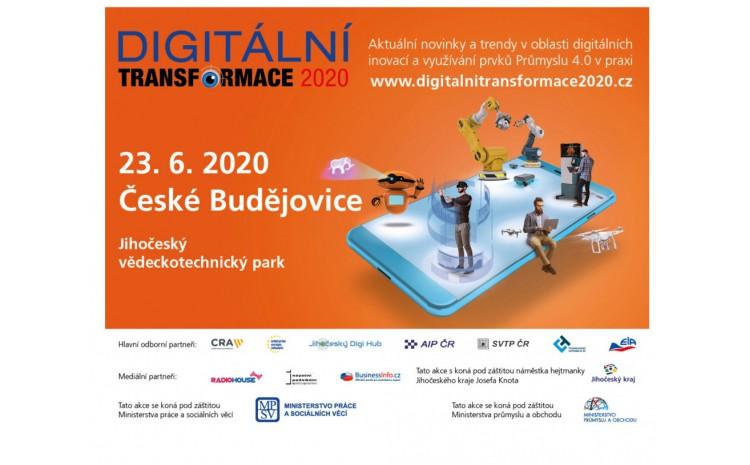 Pozvánka na akci DIGITÁLNÍ TRANSFORMACE CZ 2020