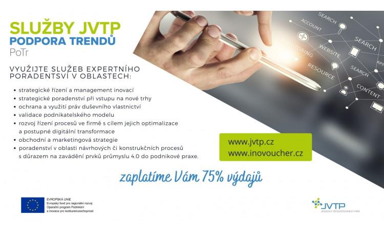 """K dnešnímu dni jsme zahájili příjem žádostí v novém programu """"Služby JVTP - Podpora Trendů"""" (PoTr)"""