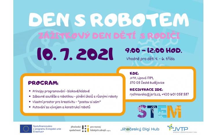 JVTP zve na DEN S ROBOTEM - zážitkový den dětí s rodiči