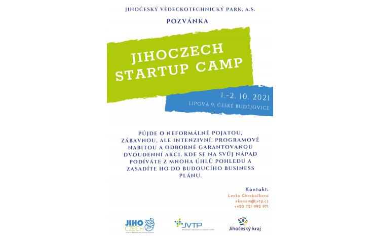 Jihoczech Startup Camp nově v JVTP !