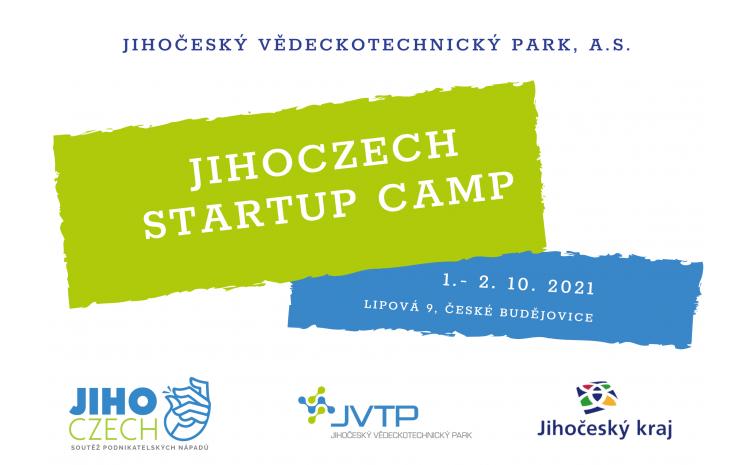 Jihoczech Startup Camp začíná v JVTP již zítra!