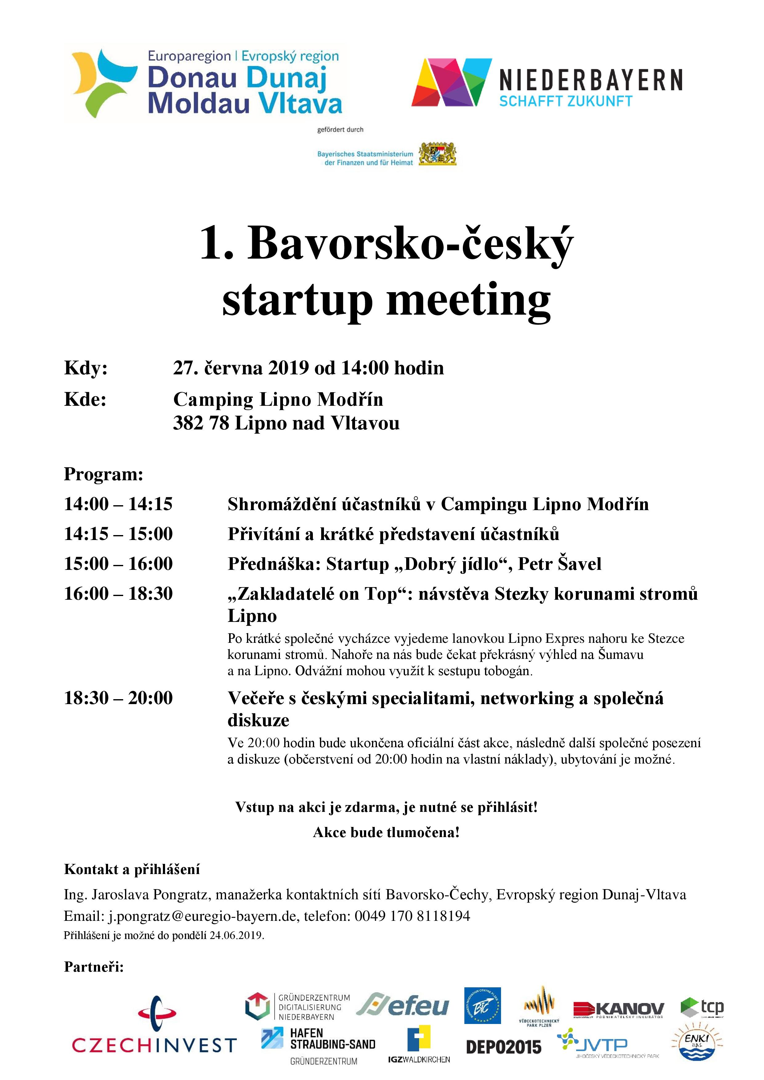 plakát 1. Bavorsko-český startup meeting